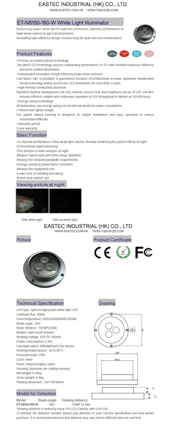 ET-N8150-160-W White Light Illuminator